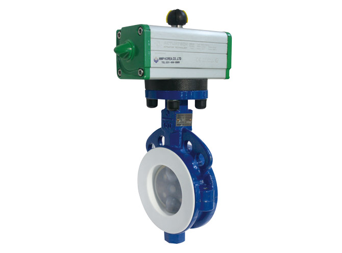 PFA Pneumatic Butterfly Valve (Actuatech)